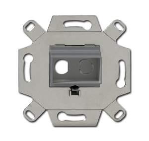 0230-0-0446 BJE Серый Адаптор/суппорт для RCA-разъёмов (колокольчик/тюльпан)