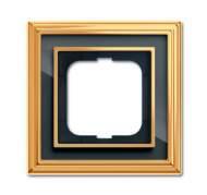 1754-0-4565 (1721-835-500) BJE Династия Полированная латунь/Черное стекло Рамка 1-ая