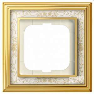 1754-0-4570 (1721-836-500) BJE Династия Полированная латунь/Белая роспись Рамка 1-ая