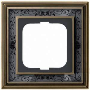 1754-0-4595 (1721-843-500) BJE Династия Античная латунь/Черная роспись Рамка 1-ая