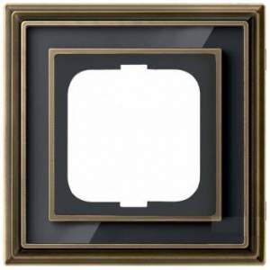 1754-0-4585 (1721-845-500) BJE Династия Античная латунь/Черное стекло Рамка 1-ая