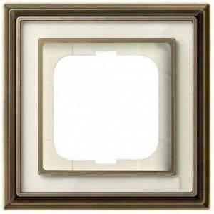 1754-0-4580 (1721-848-500) BJE Династия Античная латунь/Белое стекло Рамка 1-ая