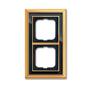 1754-0-4566 (1722-835-500) BJE Династия Полированная латунь/Черное стекло Рамка 2-ая
