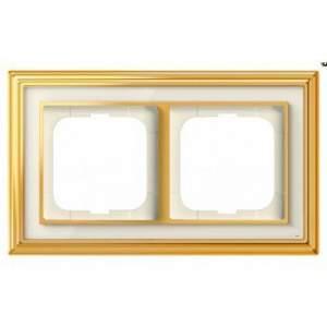 1754-0-4561 (1722-838-500) BJE Династия Полированная латунь/Белое стекло Рамка 2-ая