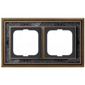 1754-0-4596 (1722-843-500) BJE Династия Античная латунь/Черная роспись Рамка 2-ая