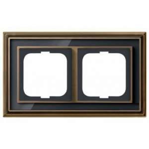 1754-0-4586 (1722-845-500) BJE Династия Античная латунь/Черное стекло Рамка 2-ая