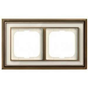 1754-0-4581 (1722-848-500) BJE Династия Античная латунь/Белое стекло Рамка 2-ая