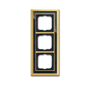 1754-0-4567 (1723-835-500) BJE Династия Полированная латунь/Черное стекло Рамка 3-ая