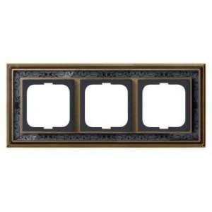 1754-0-4597 (1723-843-500) BJE Династия Античная латунь/Черная роспись Рамка 3-ая