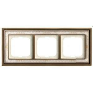 1754-0-4592 (1723-846-500) BJE Династия Античная латунь/Белая роспись Рамка 3-ая