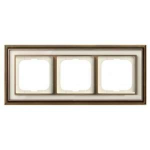 1754-0-4582 (1723-848-500) BJE Династия Античная латунь/Белое стекло Рамка 3-ая