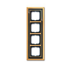 1754-0-4568 (1724-835-500) BJE Династия Полированная латунь/Черное стекло Рамка 4-ая