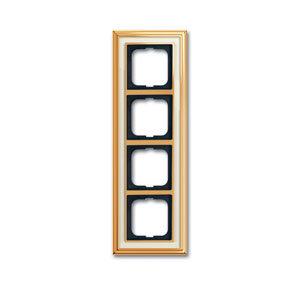 1754-0-4563 (1724-838-500) BJE Династия Полированная латунь/Белое стекло Рамка 4-ая