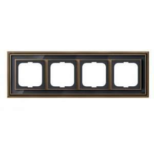 1754-0-4588 (1724-845-500) BJE Династия Античная латунь/Черное стекло Рамка 4-ая