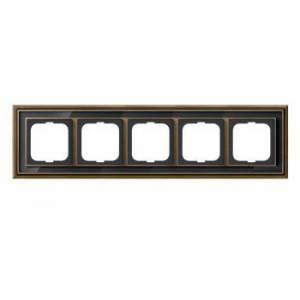 1754-0-4589 (1725-845-500) BJE Династия Античная латунь/Черное стекло Рамка 5-ая