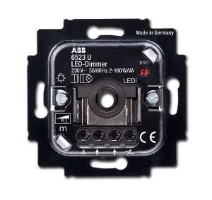 6512-0-0307 BJE Мех Светорегулятор поворотный нажимной светодиодный 2-100 Вт/ВА