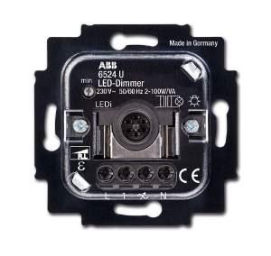 6512-0-0312 BJE Мех Светорегулятор клавишный нажимной светодиодный 2-100 Вт/ВА