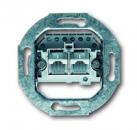 0230-0-0235 (0214) BJE Мех Розетка ТЛФ 2-ая наклонная с общим входом (RJ 11/12RJ 45 кат3,2х8(8)