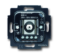 6519-0-0011 (6519 U) BJE Мех Светорегулятор поворотный для л/н, галоген ламп с электрон транс 550W