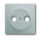 1753-0-0040 (1743-783) BJE Impuls Серебро металлик Накладка TV розетки (TV+FM)