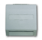 1753-0-0054 (1758-783) BJE Impuls Серебро металлик Накладка с суппортом для коммуникационных разъёмов