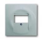 1753-0-0056 (1766-783) BJE Impuls Серебро металлик Накладка аудиорозетки (мех 247, 248) и ТАЕ-разъёмов