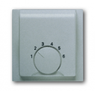 1710-0-3744 (1794-783) BJE Impuls Серебро металлик Накладка для терморегулятора НО конт (мех 1094 U,1097U)