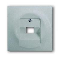 1753-0-0953 (1803-71) BJE Impuls Чёрный Бриллиант Накладка 1-й ТЛФ и комп розетки наклонной (мех 213/16)