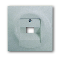 1753-0-0087 (1803-783) BJE Impuls Серебро металлик Накладка 1-й ТЛФ/Комп розетки наклонной (мех 213/16)