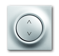 6430-0-0338 (6430-783) BJE Impuls Серебро металлик Накладка выключателя Буш-Жалюзиконтроль (мех 6411, 6402)