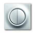6599-0-2923 (6545-783) BJE Impuls Серебро металлик Накладка светорегулятора 2-х канального псевдосенсорного