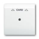 1753-0-6703 (1792-74) BJE Impuls Бел Накладка карточного выключателя (мех 2025 U)