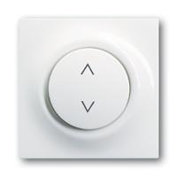 6430-0-0144 (6430-74) BJE Impuls Бел Накладка выключателя Буш-Жалюзиконтроль (мех 6411, 6402)