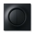 1753-0-0152 (1785-775) BJE Impuls Черный бархат Клавиша 2-ая с подсветкой