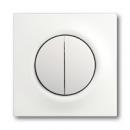 1753-0-0181 (1785-774) BJE Impuls Белый бархат Клавиша 2-ая с подсветкой