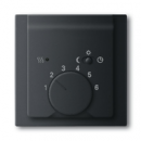 1710-0-3919 (1795-775) BJE Impuls Черный бархат Накладка регулятора тёплого пола (мех 1095 U, 1096 U)