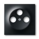 1753-0-0139 (1743-03-775) BJE Impuls Черный бархат Накладка TV розетки (TV+FM+SAT)