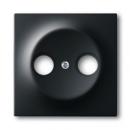 1753-0-0140 (1743-775) BJE Impuls Черный бархат Накладка TV розетки (TV+FM)