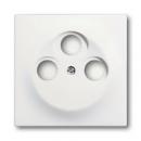 1753-0-0167 (1743-03-774) BJE Impuls Белый бархат Накладка TV розетки (TV+FM+SAT)