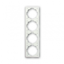 1754-0-4435 (1754-0-4434) BJE Impuls Белый бархат Рамка 4-ая