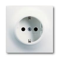 2013-0-5335 (20 EUCKS-774) BJE Impuls Белый бархат Розетка с/з с защитными шторками