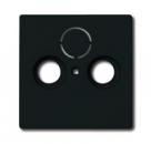 1724-0-4252 (1743-81) BJE Solo/Future Черный Антрацит Накладка TV/TV-SAT розетки