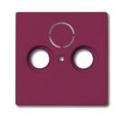 1724-0-2769 (1743-87) BJE Solo/Future Красный Накладка TV/TV-SAT розетки