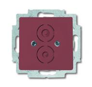 1710-0-3220 (1750-87) BJE Solo/Future Красный Накладка с суппортом для разъёмов BNC и TNC
