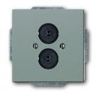 1723-0-0257 (1751-803) BJE Solo/Future Серый Металлик Аудиорозетка 2-ая