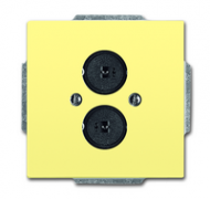 1723-0-0256 (1751-815) BJE Solo/Future Желтый Сахара Аудиорозетка 2-ая