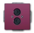 1723-0-0243 (1751-87) BJE Solo/Future Красный Аудиорозетка 2-ая