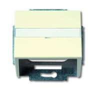 1724-0-2759 (1758-82) BJE Solo/Future Крем Накладка с суппортом для коммуникационных разъёмов