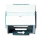 1724-0-2761 (1758-84) BJE Solo/Future Бел Накладка с суппортом для коммуникационных разъёмов