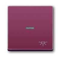 1751-0-2777 (1789 LI-87) BJE Solo/Future Красный Клавиша 1-я с прозрачной линзой и симв свет